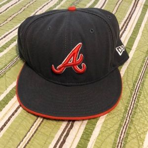 Fitted Atlanta Braves baseball cap.